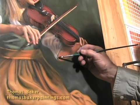 Thomas Baker demonstrates glazing in an oil painting..he is very entertaining too!