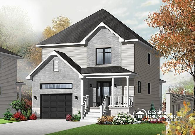 Plan de maison no. W3878 de dessinsdrummond.com