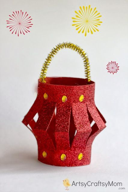 40+ Diwali Ideas Cards, Crafts, Decor, DIY + Diwali paper lantern + Kids Crafts to make with foam India Crafts Diwali Art , craft activities to do with kids #GlitterCrafts