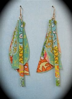 Recycled Paper Jewelry- could make with fabric