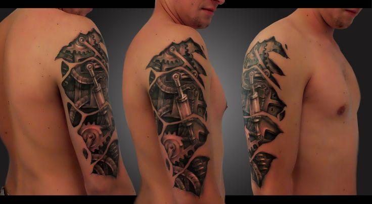 Tetování biomechanika rukáv