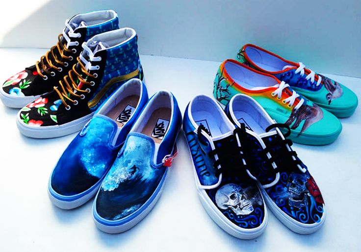 PHOTOS: Vans shoes painted by Marina High students