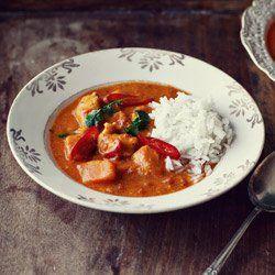Curry z kurczakiem i dynią w pomidorowym sosie curry | Kwestia Smaku
