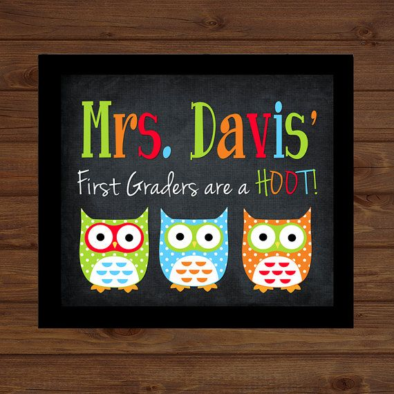 Owl Teacher Sign Back to School Custom Personalized - Classroom Decor/Gift - Wooden Sign Plaque Holiday Decor Gift Sign Wood Art