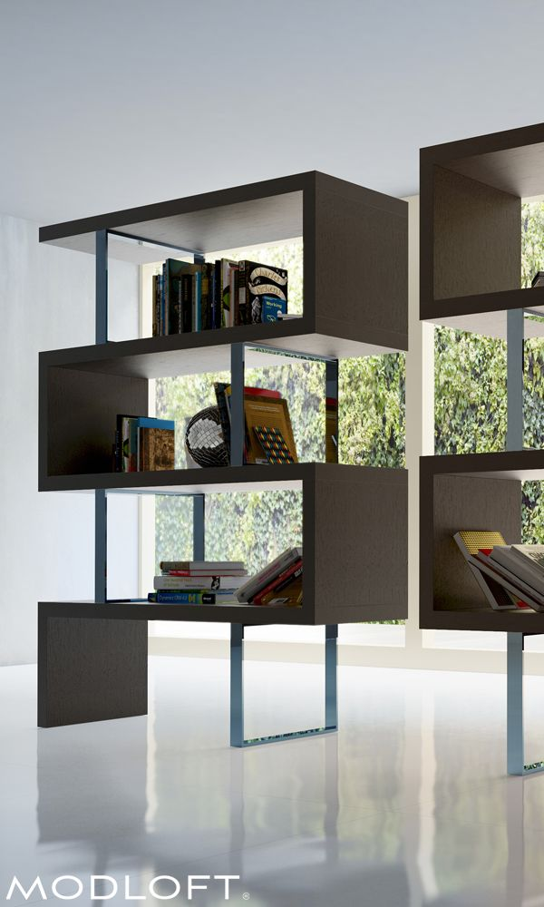 One of my favorites, the Modloft Pearl bookcase can be free-standing in the middle of a room or tiled against a wall - always dramatic! Available in our quick-ship program for immediate delivery.