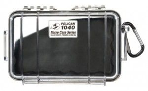 "Pelican Dry Box 1040 This ""micro case"" model has plenty of room to store a smartphone, wallet, and other goodies that tend to slide off into the lake when you're not paying attention. The handy lanyard and carabiner make it easy to secure your valuables to something sturdy. Even if your Pelican box does go into the drink, your valuables will still be safe and dry."