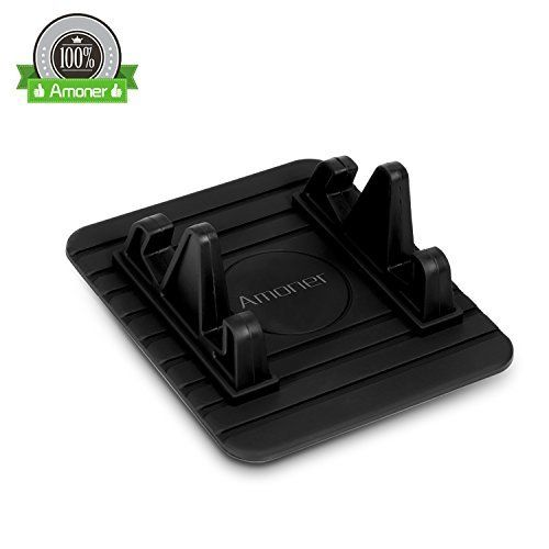 Amoner Car Mount Holder, Anti-Slip Car Silicone Pad Dash Mat Cell Phone Holder Cradle Dock for iPhone 8/7/7plus, Samsung Galaxy, GPS and More (Black) #Amoner #Mount #Holder, #Anti #Slip #Silicone #Dash #Cell #Phone #Holder #Cradle #Dock #iPhone #//plus, #Samsung #Galaxy, #More #(Black)