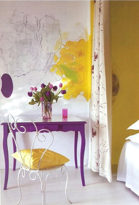 LSU: Decor, Interior, Ideas, Purple, Color, Hotel Delos, Carolyn Quartermaine, Wall, Design