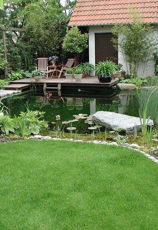Schwimmteich In Gartenanlage   Naturpool