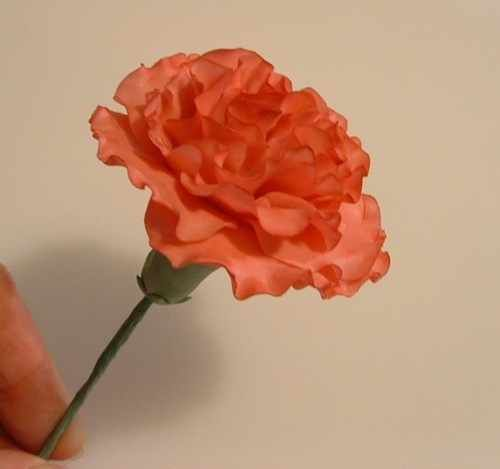 Gumpaste Carnations tutorial by Dusky Rose of the UK. Click on photo for tutorial.