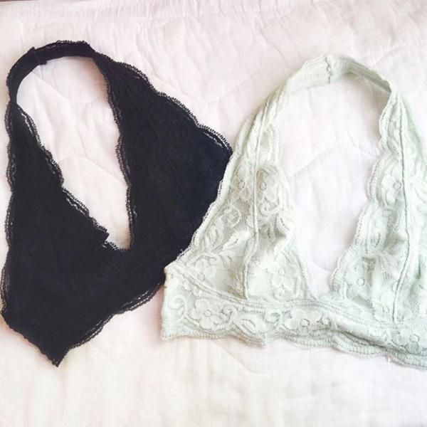 Pins and Needles Lace Halter Bra from Urban Outfitters