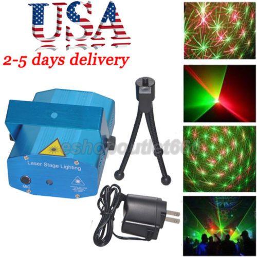 US- Mini Projector DJ Disco Light Stage R&G Party Laser Lighting Christmas Xmas