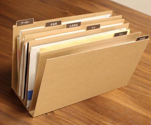 【書類の収納と整理】苦手な書類整理を克服!簡単♪投げ込み収納 - My simple home~目指せ片付け、整頓上手!楽々インテリア・収納・家事~