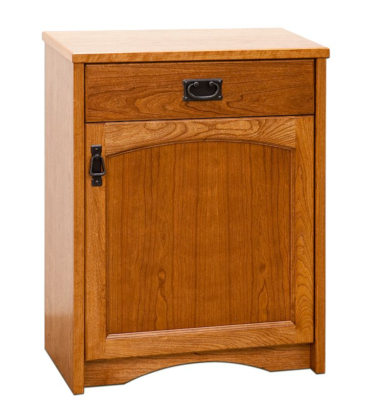 Mission style petite credenza with red oak hardwood