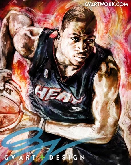 www.asportinglife.co #sportsart #artwork #heat