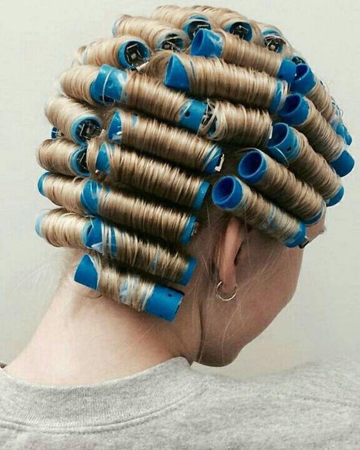 как правильно накручивать волосы на коклюшки фото