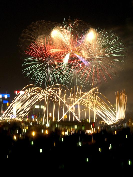 Photo The fireworks as seen from Newport Central : central lighting cincinnati - azcodes.com
