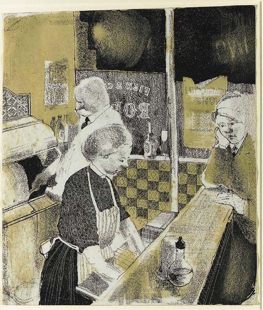 David Hockney. Fish and Chip Shop