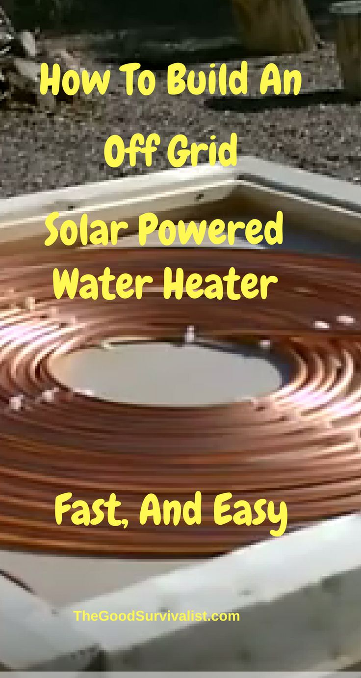 Off Grid Tips-This off grid solar water heater will give you ample amounts of hot water that can be used for whatever it is needed for including keeping a bio gas generator warm. http://www.thegoodsurvivalist.com/how-to-build-a-solar-powered-water-heater-thats-simple-and-economical/