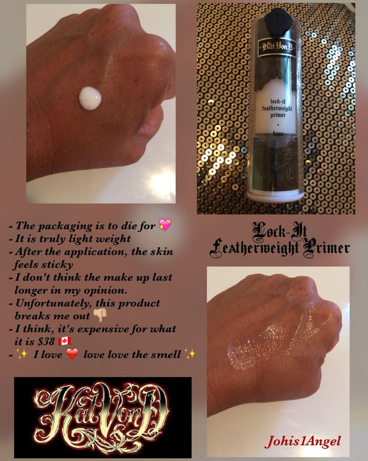 """This is a love/hate product 🤔 Some goods and some bad's in my opinion #katvondprimer #beautyreviews """"Disclaimer: This review is not sponsored by any company (I wish) I just want to share with you, what beauty products are out there and what I love and dislike. That's all""""."""