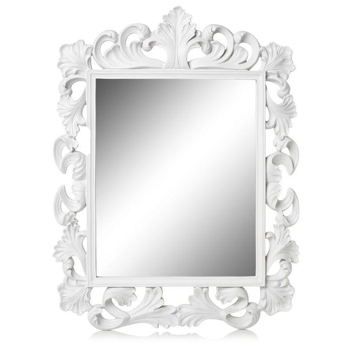 Rococo Mirror White Square | Wilko
