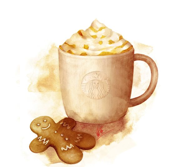 Starbucks Winter Fest Campaign by Mitchell Nelson, via Behance