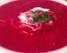 Rode bietensoep Borsjtsj of borscht