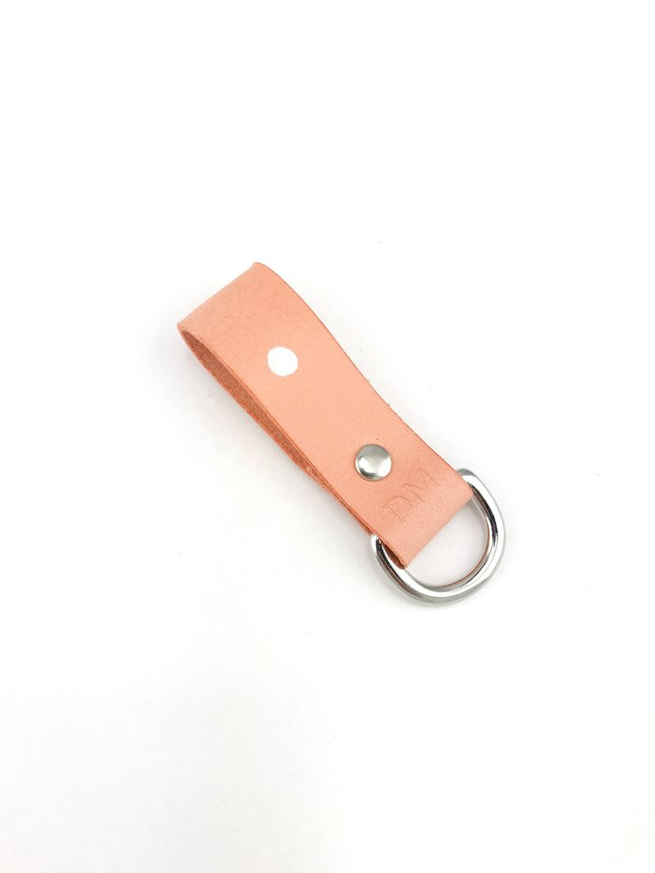 Leather Keyring Personalized Leather Keychain Leather Key Fob Personalised Leather Holder Ring Pink and White Polka Dot Leather by LINThomeware on Etsy