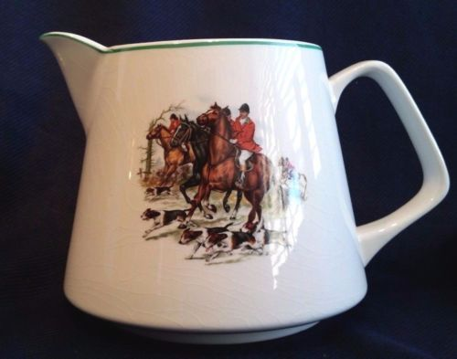 LORD-NELSON-POTTERY-PITCHER-ENGLISH-HUNTING-HORSES