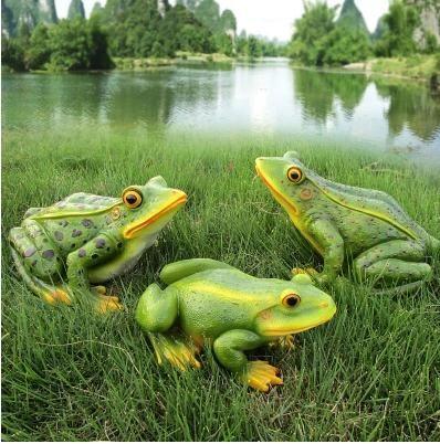Simulated Frog Handicraft, Animal Sculpture Ornament, Garden Decoration  Article