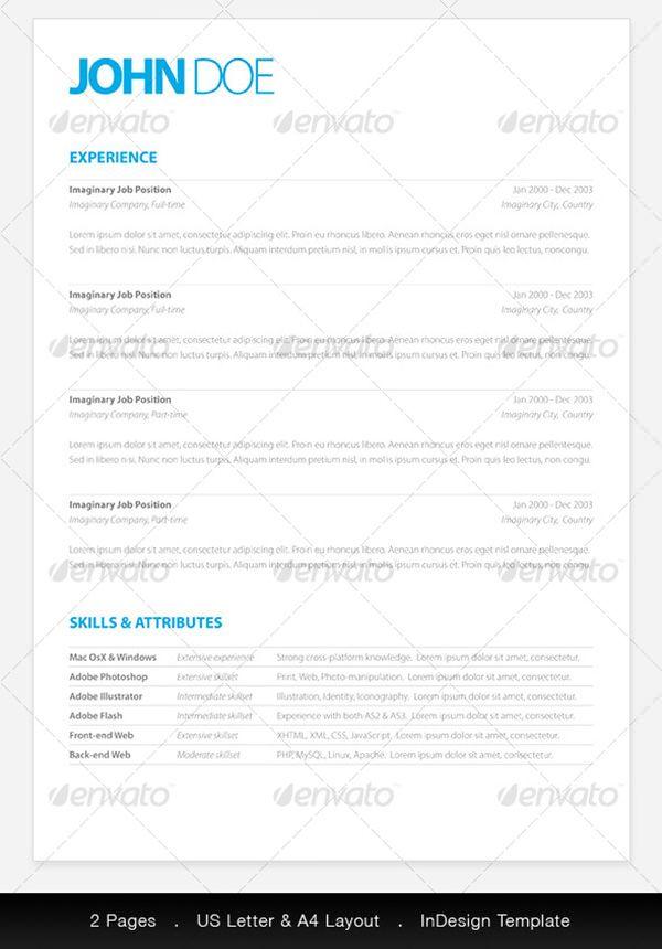 Free cv template word 25 pinterest 20 resume templates fr deinen traumjob yelopaper Images