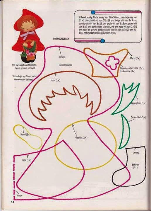 Mimo Artes: Moldes Chapeuzinho Vermelho