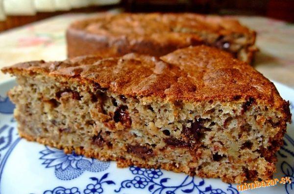 Jesenná zdravá tortička orechovo čokoládová