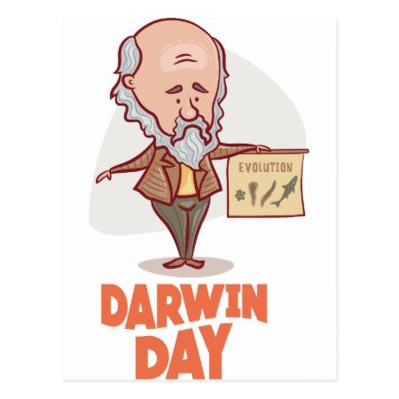 12th February - Darwin Day - Appreciation Day Postcard - tap to personalize and get yours