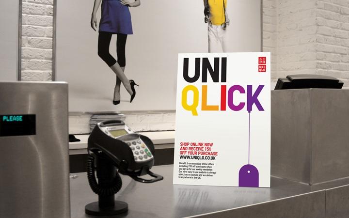 Uniqlo Online   Branch #uniqlo #campaign #online #design #colour #typography #leaflet