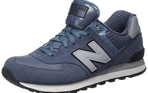 New Balance ML574CUB-574, Chaussures de Running Entrainement Homme, Multicolore (Thunder/Multi 161), 42 EU: New Balance Bleu 574 Trainers.…