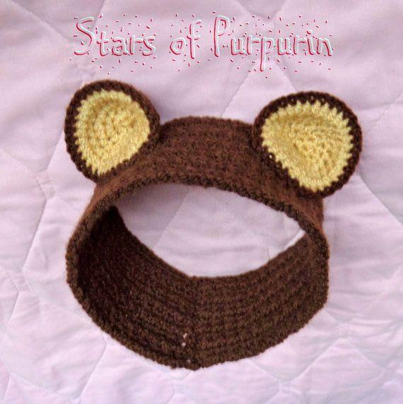Orejitas de Osito  Para Bebé  Diadema Adorno por StarsOfPurpurin