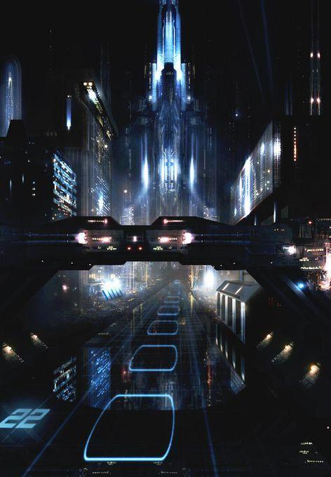 Best Cyberpunkfutureetc Images On Pinterest Landscapes - City skylines turned into geometric metropolises by scott uminga