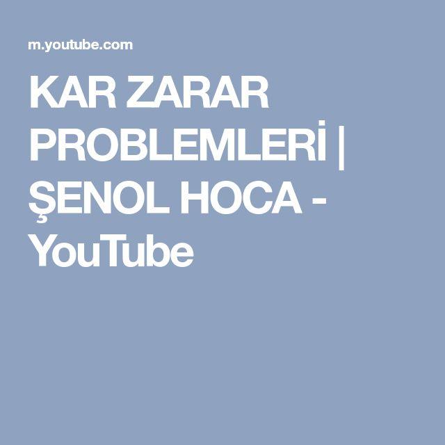 KAR ZARAR PROBLEMLERİ | ŞENOL HOCA - YouTube