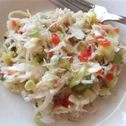 Marinated Summer Slaw Recipe - Great for picnics, it has no mayo!