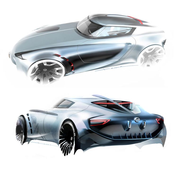 Nissan Z Concept - Design Sketches by Berk Erner from Art Center