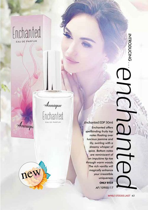 Annique September 2017 Beauté #Enchanted #Fragrance for her. Purchase any of these months awesome #Annique #Specials from our online store AND earn rewards while you're there. #rooibosmiracle  https://rooibos-miracle.co.za/store/