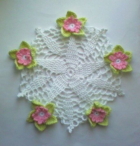 Pink Rose Doily