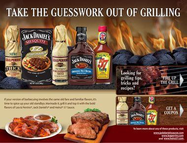 Heinz 57, Jack Daniels BBQ Sauce & Lea Perrins