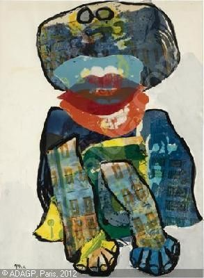 Karel Appel, (1921-2006) Door zijn vele reizen krijgt Karel Appel steeds betere contacten in de Amerikaanse kunstwereld. Vanaf de zestiger jaren worden er in de VS talloze tentoonstellingen van zijn werk georganiseerd. Op het werk van Karel Appel heeft de Deense schilder Asger Jorn een sterke invloed gehad. Karel Appel voelt zich voornamelijk tot klassieke thema's, zoals landschappen, figuren en dieren aangetrokken.