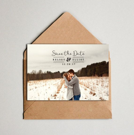 Save The Date  Wedding Save the Date Custom Photo  by JALPrints