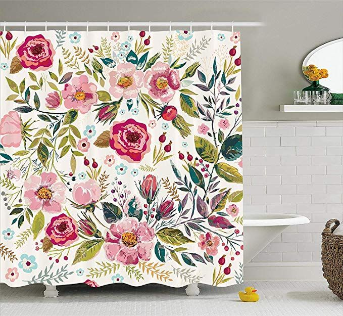 Ambesonne Floral Shower Curtain By Shabby Chic Flowers Roses