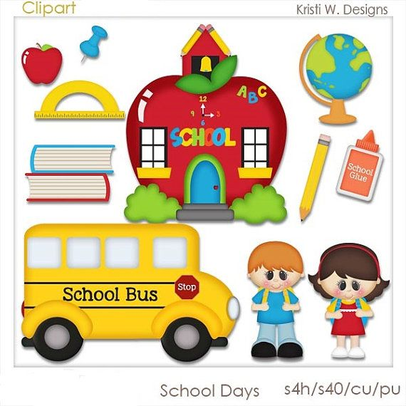 SCHOOL DAYS IS A DIGITAL CLIPART SET.  THIS SET CONTAINS 11 DIGITAL IMAGES.  ALL DIGITAL IMAGES ARE PROVIDED IN PNG FORMAT.    THE DIGITAL IMAGES ARE
