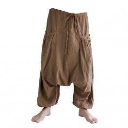 Pantalón afganos con dos amplios bolsillos laterales, Brown