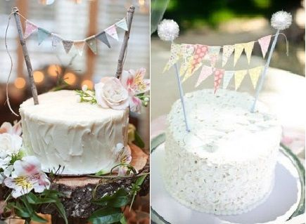 bunting cake toppers as featured on Pinterest